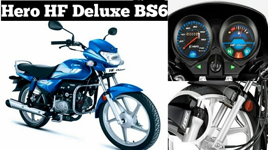 Hero Motocorp Launched The Bs 6 Hero Hf Deluxe Bike Price Details
