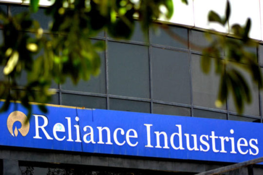 Reliance Industries share was down 13.50% at today's trading