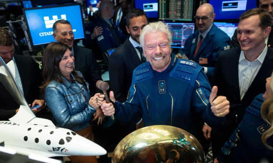 Celebrity guinea pigs; Richard Branson and Jeff Bezos going to Space